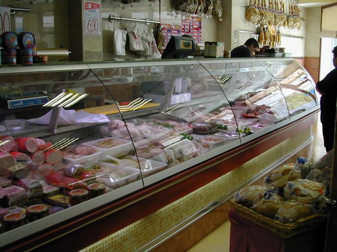 vitrinas, mostradores, maquinas de corte y accesorios para carniceria