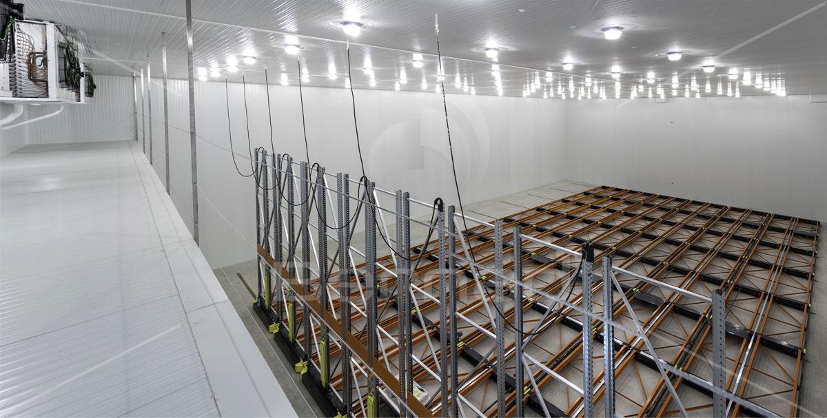 ejemplo de instalación de cámara de congelación Bernad